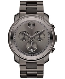Men's Swiss Chronograph Bold Gunmetal Ion-Plated Stainless Steel Bracelet Watch 44mm 3600277