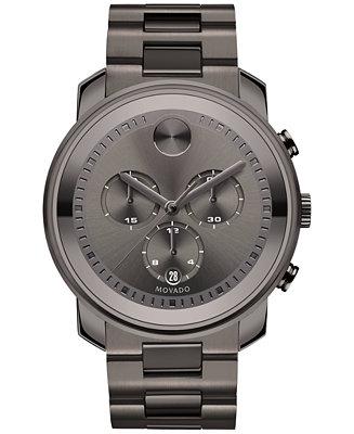 Movado Men's Swiss Chronograph Bold Gunmetal Ion-Plated 3600277