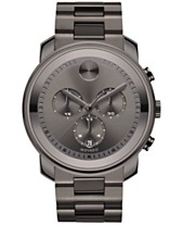 6ac03a432 Movado Men's Swiss Chronograph Bold Gunmetal Ion-Plated Stainless Steel  Bracelet Watch 44mm 3600277