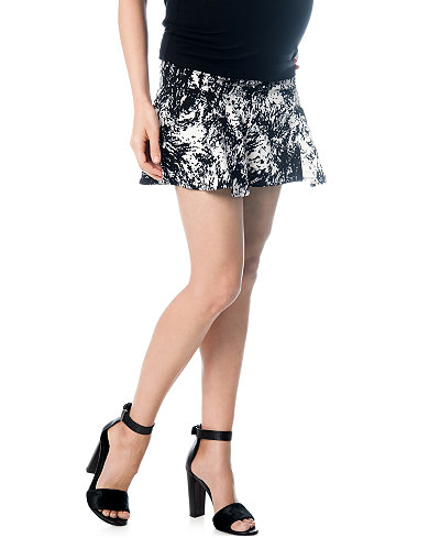 A Pea In The Pod Maternity Secret Fit Belly® Printed Fit-and-Flare Skirt