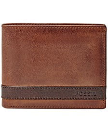 Quinn Bifold With Flip ID Leather Wallet