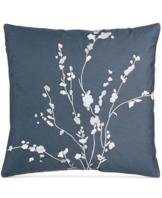 """Pyrus Metallic Bouquet 18"""" Square Decorative Pillow"""