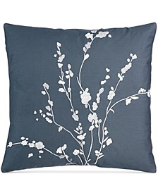 "Pyrus Metallic Bouquet 18"" Square Decorative Pillow"