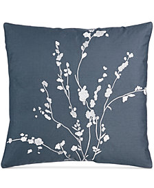 "Calvin Klein Pyrus Metallic Bouquet 18"" Square Decorative Pillow"