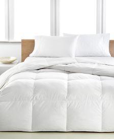 Light Warmth Down Full/Queen Comforter, Premium White Down Fill, 100% Cotton Cover