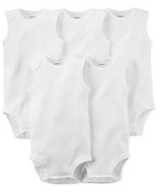 Baby Boys & Baby Girls 5-Pack Sleeveless Bodysuits