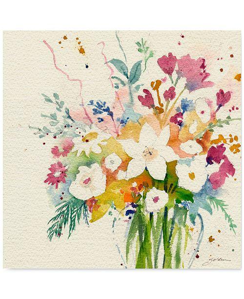 "Trademark Global 'Dream Bouquet' Canvas Print by Sheila Golden, 24"" x 24"""