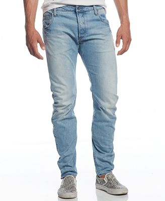 G-Star RAW Men's Arc Slim-Fit Washed-Out Jeans - Jeans - Men - Macy's