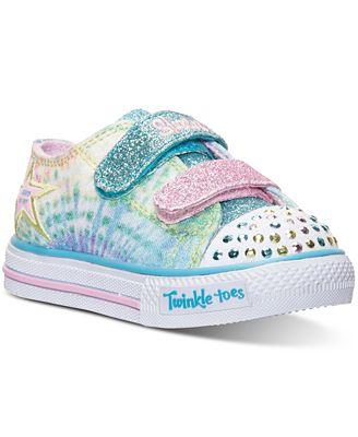 Skechers Toddler Girls Twinkle Toes Shuffles Peace N
