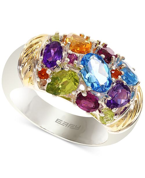 EFFY Collection EFFY® Multi-Stone Ring in 18k Gold over Sterling Silver (3-1/3 ct. t.w.)