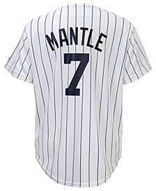 Majestic Kids' Mickey Mantle New York Yankees Cooperstown Jersey, Big Boys (8-20)