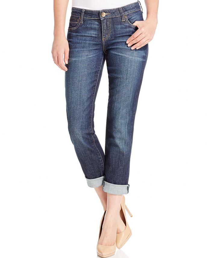 Kut from the Kloth - Catherine Boyfriend Straight-Leg Cuffed Jeans, Fervent Wash