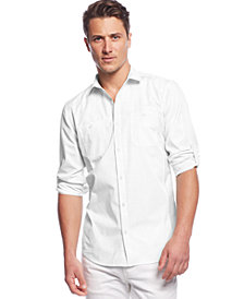 I.N.C. Men's Work Striped Shirt, Created for Macy's