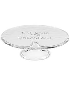 """kate spade new york all in good taste """"Eat Cake for Breakfast"""" 10"""" Glass Cake Plate"""