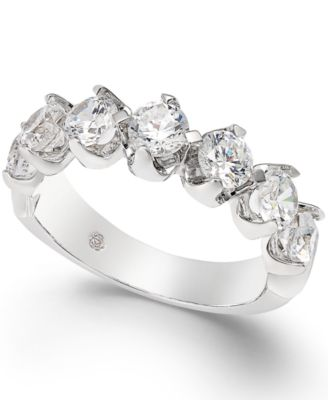 Certified Diamond Scalloped Ring (1-1/2 ct. t.w.) in 14k White Gold