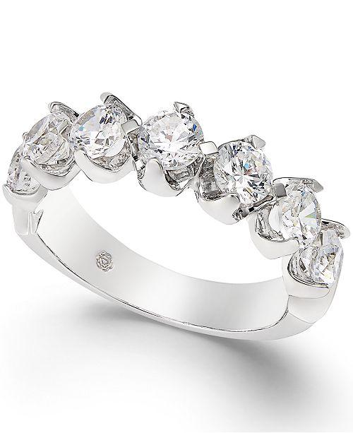 Macy's Certified Diamond Scalloped Ring (1-1/2 ct. t.w.) in 14k White Gold