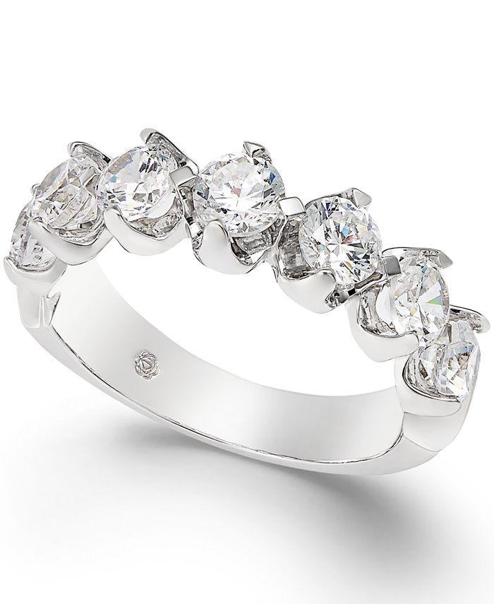 Macy's - Certified Diamond Scalloped Ring (1-1/2 ct. t.w.) in 14k White Gold
