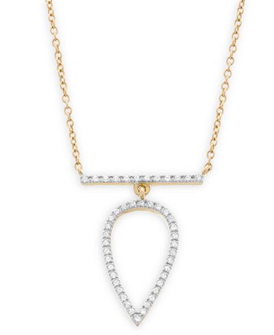 Diamond Pear Pendant Necklace in 14k Gold (1/7 ct. t.w.)
