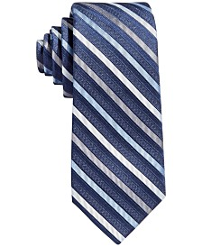 Calvin Klein Big Boys Gemstone Striped Zipper Necktie
