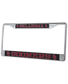 Stockdale Oklahoma Sooners Carbon License Plate Frame