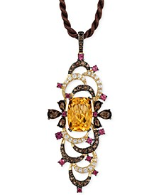 Crazy Collection® Multi-Stone Pendant Necklace (9-1/2 ct. t.w.) in 14k Gold, Created for Macy's