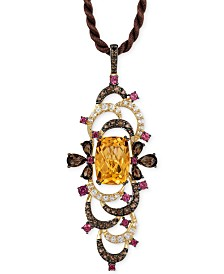 Le Vian Crazy Collection® Multi-Stone Pendant Necklace (9-1/2 ct. t.w.) in 14k Gold, Created for Macy's
