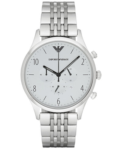 Emporio Armani Men's Chronograph Stainless Steel Bracelet Watch 43mm AR1879