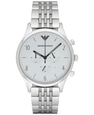 Emporio Armani Men's Chronograph Stainless Steel Bracelet Watch 43mm AR1879