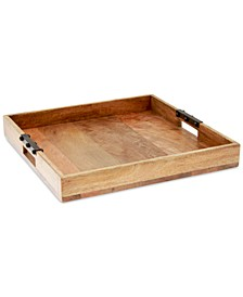 Wood & Iron Serving Tray