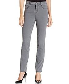 Petite Tummy-Control Slim-Leg  Jeans, Created for Macy's