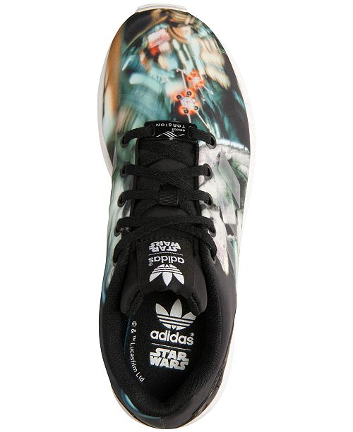 e45852bcb ... adidas Big Boys  ZX Flux Star Wars Millennium Falcon Casual Sneakers  from Finish ...