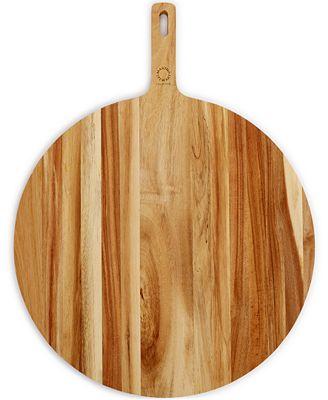 closeout martha stewart collection round acacia paddle cutting,