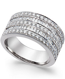 Five-Row Diamond Ring (1-1/4 ct. t.w.) in 14k White Gold