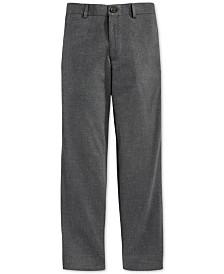 Lauren Ralph Lauren Charcoal Tuxedo Pants, Big Boys Husky