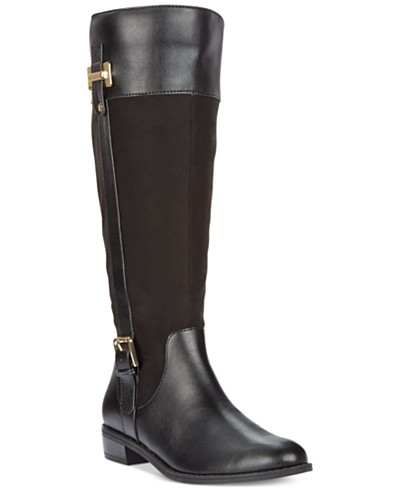 Karen Scott Deliee Wide-Calf Riding Boots, Created for Macy's