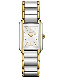 Rado Women's Swiss Integral Gold-Tone PVD and Stainless Steel Bracelet Watch 23mm R20212103