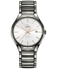 Men's Swiss Automatic True Plasma High-Tech Ceramic Bracelet Watch 40mm R27057112