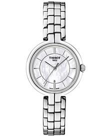 Women's Swiss Flamingo Lady Stainless Steel Bracelet Watch 26mm T0942101111100