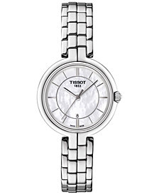 Tissot Women's Swiss Flamingo Lady Stainless Steel Bracelet Watch 26mm T0942101111100