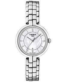 Tissot Women's Swiss Flamingo Lady Stainless Steel Bracelet Watch 26mm T0942101111100