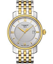 Tissot Men's Swiss Bridgeport Two-Tone Stainless Steel Bracelet Watch 40mm T0974102203800