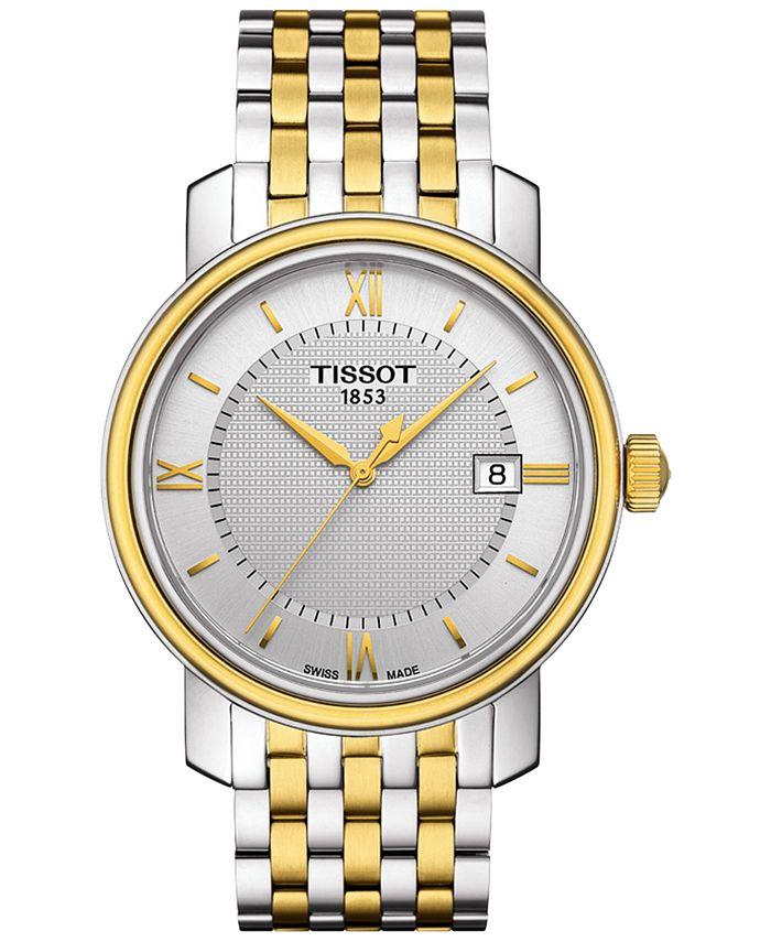 Tissot - Men's Swiss Bridgeport Two-Tone Stainless Steel Bracelet Watch 40mm T0974102203800