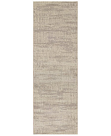 "Couristan Area Rug, Taylor Graphite Sea Mist 2'7"" x 7'10"" Runner Rug"