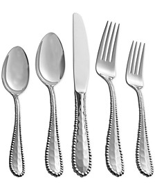 Stainless Steel Molten Collection 5-Pc. Flatware Set