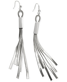 GUESS Herringbone Chain Fringe Earrings