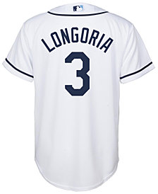 Majestic Kids' Evan Longoria Tampa Bay Rays Replica Jersey, Big Boys (8-20)