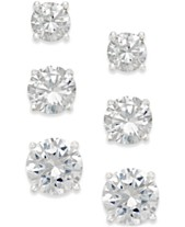 cf5b82ad2 Giani Bernini Cubic Zirconia Stud Earring Set in 18k Gold over Sterling  Silver or Sterling Silver