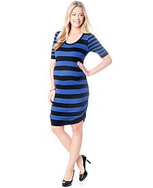 Motherhood Maternity Ruched Sweater Dress