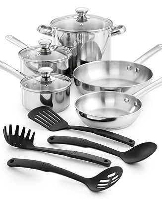 Tools Of The Trade Stainless Steel 12 Pc Cookware Set