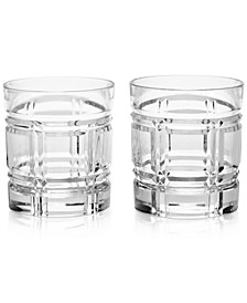 Greenwich Double Old-Fashioned Glasses, Set of 2